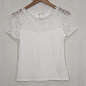 H&M NWOT Lacey Crew Neck Tee